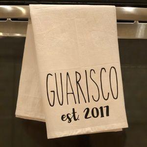 Flour sack towel with last name